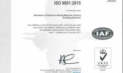 CÔNG TY HỒNG KÝ ĐẠT CHỨNG CHỈ ISO 9001:2015