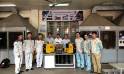 Thầy trò trường CĐ Nghề Công nghiệp Hà Nội đón nhận tài trợ máy hàn MIG HỒNG KÝ