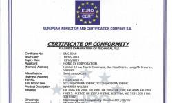 Sản phẩm Hồng Ký được cấp chứng nhận đạt tiêu chuẩn CE