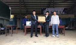 Cao đẳng Nghề Cơ giới Ninh Bình - trường thứ 4 khu vực miền Bắc được nhận tài trợ từ Hồng Ký