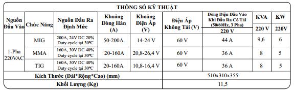 máy hàn không khí MIG HK 200D